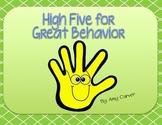 High Five Behavior --Responsive Classroom Full Packet