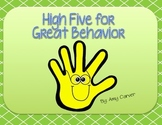High Five Behavior --Responsive Classroom Full Packet