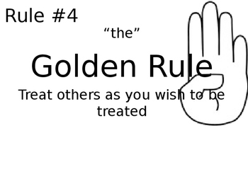 High Five Classroom Rule Set