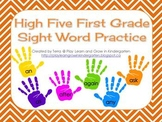 High Five First Grade Sight Word Practice