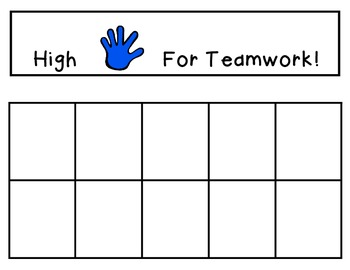 High Five For Teamwork : Behavior and Goal incentive chart for the class