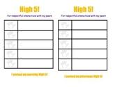 High Five - Individual Behavior Chart