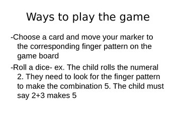 High Five!! - Math Game for Making 5 (Structuring Number)