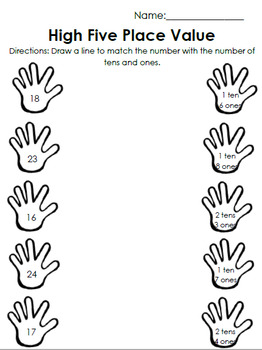 High Five Place Value - Tens and Ones
