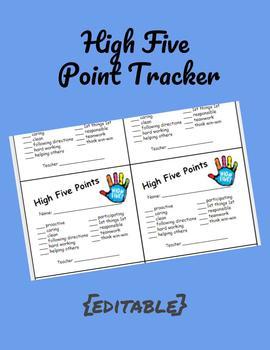 High Five Point Tracker (PBIS)
