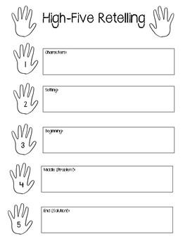 High Five Retelling - Graphic Organizer