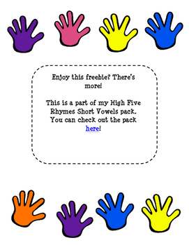 High Five Rhyming with Short Vowels (short a)