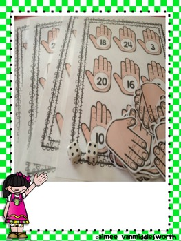 High Five Roll and Cover for Multiplication Center Activity