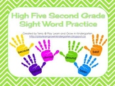 High Five Second Grade Sight Word Practice