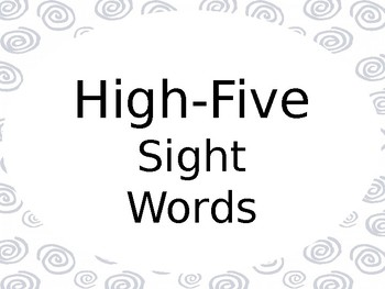 High-Five Sight Words