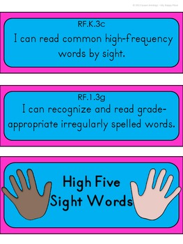 High Five Sight Word Practice