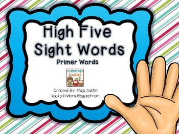 High Five Sight Words Primer Words