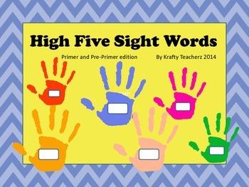 High Five Sight words Pre-Primer/Primer edition
