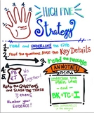 High Five Strategy (Reading Comp and Test Taking) Poster and Doodle Notes