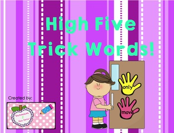 High Five Trick Words -  All Units