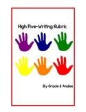 High-Five Writing Rubric