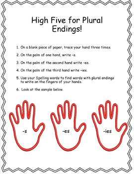 High Five for Plural Endings!