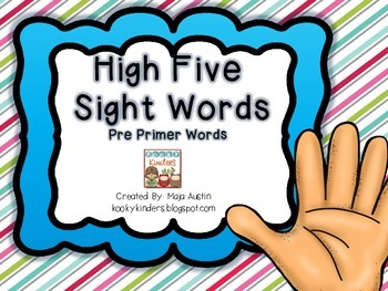 High FiveSight WordsPre Primer Words