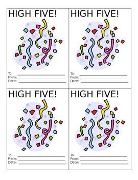 High Fives - Editable Motivation Tool