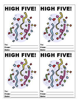 High Fives - Motivation Tool