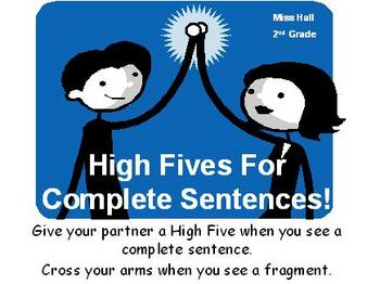 High Fives for Complete Sentences