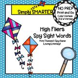 High Fliers Spy Sight Words:  NO PREP Kite Themed Sight Words I Spy Game