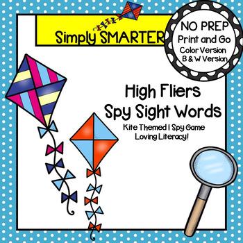 High Fliers Spy Sight Words:  NO PREP Kite Themed Sight Wo
