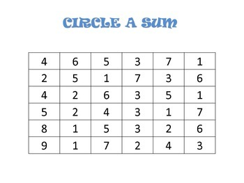 Number Sense and Simple Addition