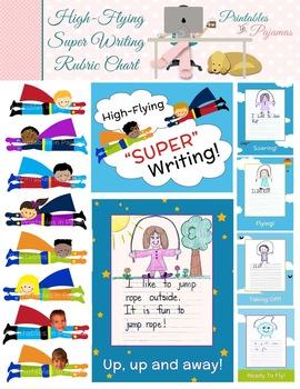 "High-Flying ""Super"" Writing Rubric Clip Chart"