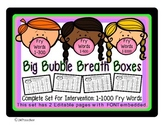 High Freq Word Fluency Intervention Editable Full Set 1000 Fry Words BreathBoxes