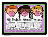 Breath Boxes HighFreq Word Fluency Intervention Editable Full 1000 Fry Word Set