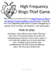 High Frequency Bingo Thief Game