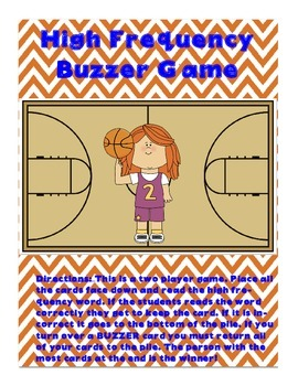 High Frequency Buzzer Game