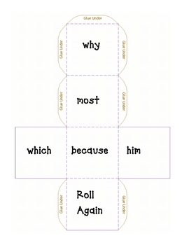 High Frequency Cube Roll-Because, why, most, which, him