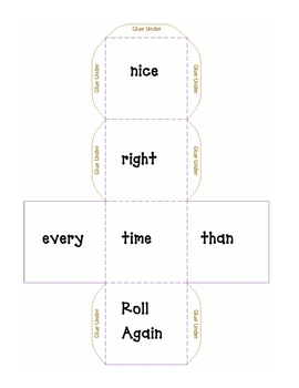 High Frequency Cube Roll-nice, right, time, every, than