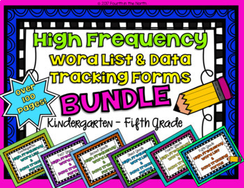 High Frequency & Data Tracking Forms Bundle- Kindergarten-