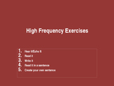 High Frequency Exercises_02