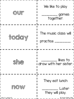 High Frequency Flash Cards for Journey's A Musical Day
