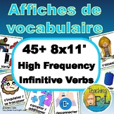 High Frequency French Verb Posters - Affiches de vocabulai