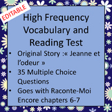 High Frequency French Vocabulary Story and Test (CI or TPRS)