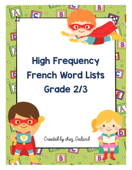 High Frequency French Words