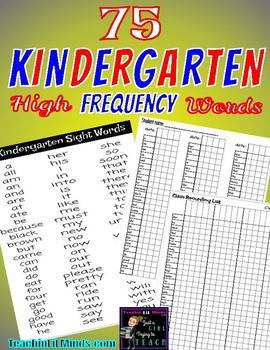 High Frequency Kindergarten Words