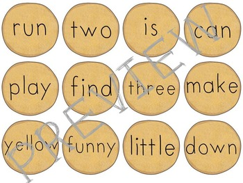 Dolch Sight Word (Pre-Primer) Pancake Matching Game
