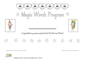 High Frequency Magic Words - Certificates for First 100