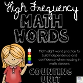 High Frequency Math Words for Counting