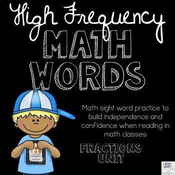 High Frequency Math Words  for Fractions