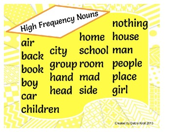 High Frequency Nouns
