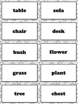 High Frequency Nouns Flash Cards - Sight Words - Word Study
