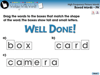 High Frequency Picture Words: Boxed Words - MAC Gr. 5-8