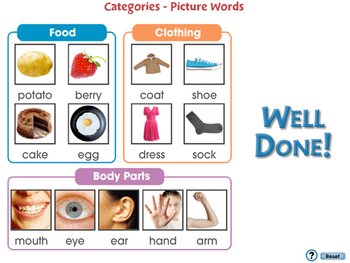 High Frequency Picture Words: Categories - Picture Words - NOTEBOOK Gr. PK-2